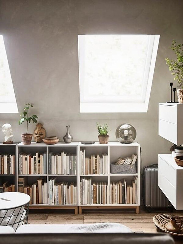 Multifunctionele logeerkamer - EKET open kast - IKEA wooninspiratie