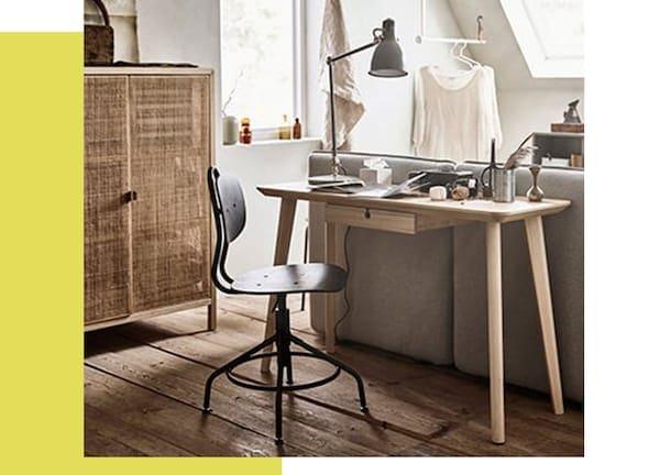 Multifunctionele logeerkamer -LISABO bureau - IKEA wooninspiratie