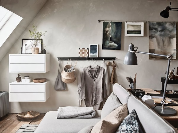 Multifunctionele logeerkamer - modulaire slaapbank VALLENTUNA - IKEA wooninspiratie