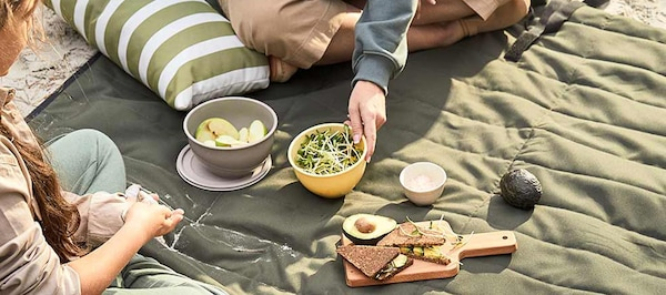 Nachhaltigkeit Picknick FJÄLLMOTT Picknickdecke