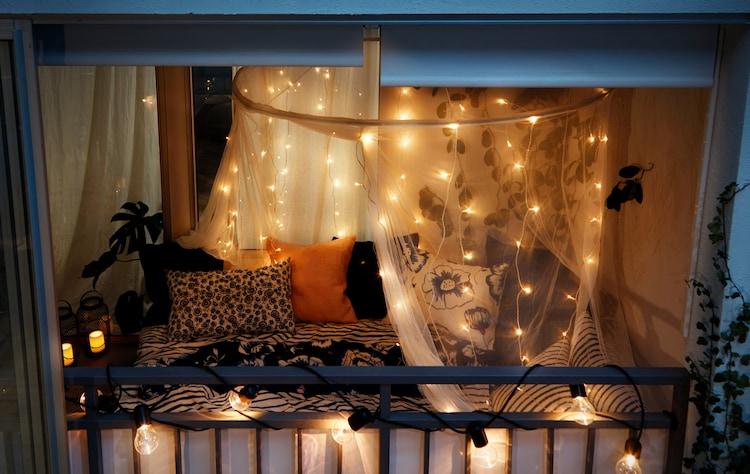 Ideen Balkon in Schlafzimmer verwandeln   IKEA