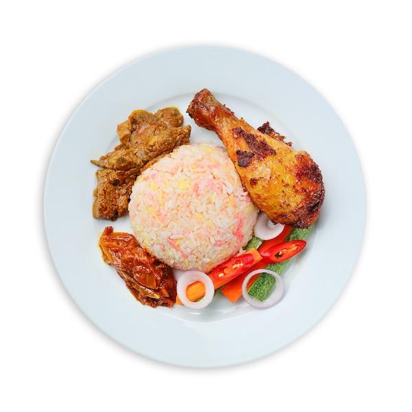 Nasi Bojari with Chicken Drumstick