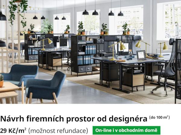 Návrh firemních prostor od designéra.