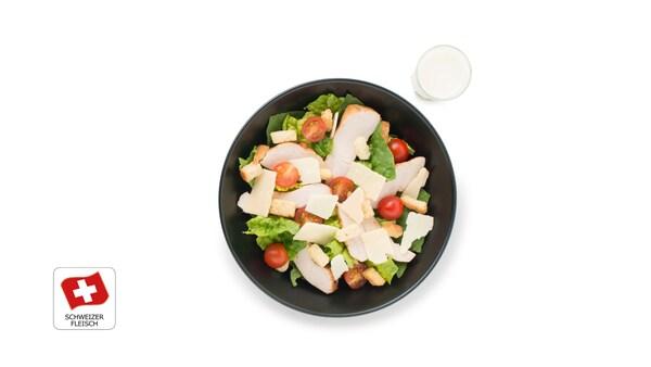 Neu: Ceasar Salat mit Pouletfleisch