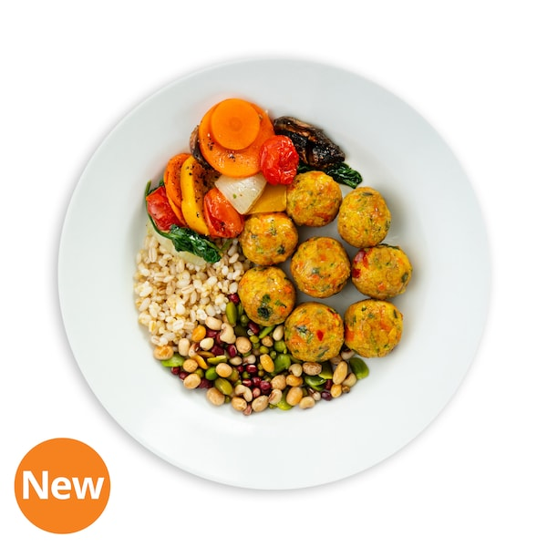 NEW! 8pcs Veggie Ball with Mixed Grains, Bean Mix, Tomato & Spinach Ragout