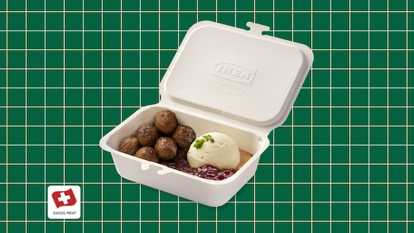 """New in the bistro: meatballs / plant balls """"take away"""""""