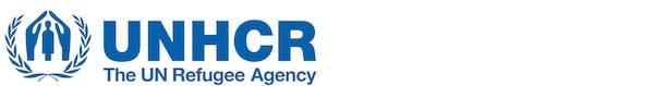 Niebieskie logo UNHCR.