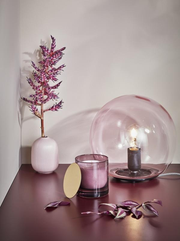 NJUTNING  Vela perfumada en vaso Éxtasis de lavanda/lila