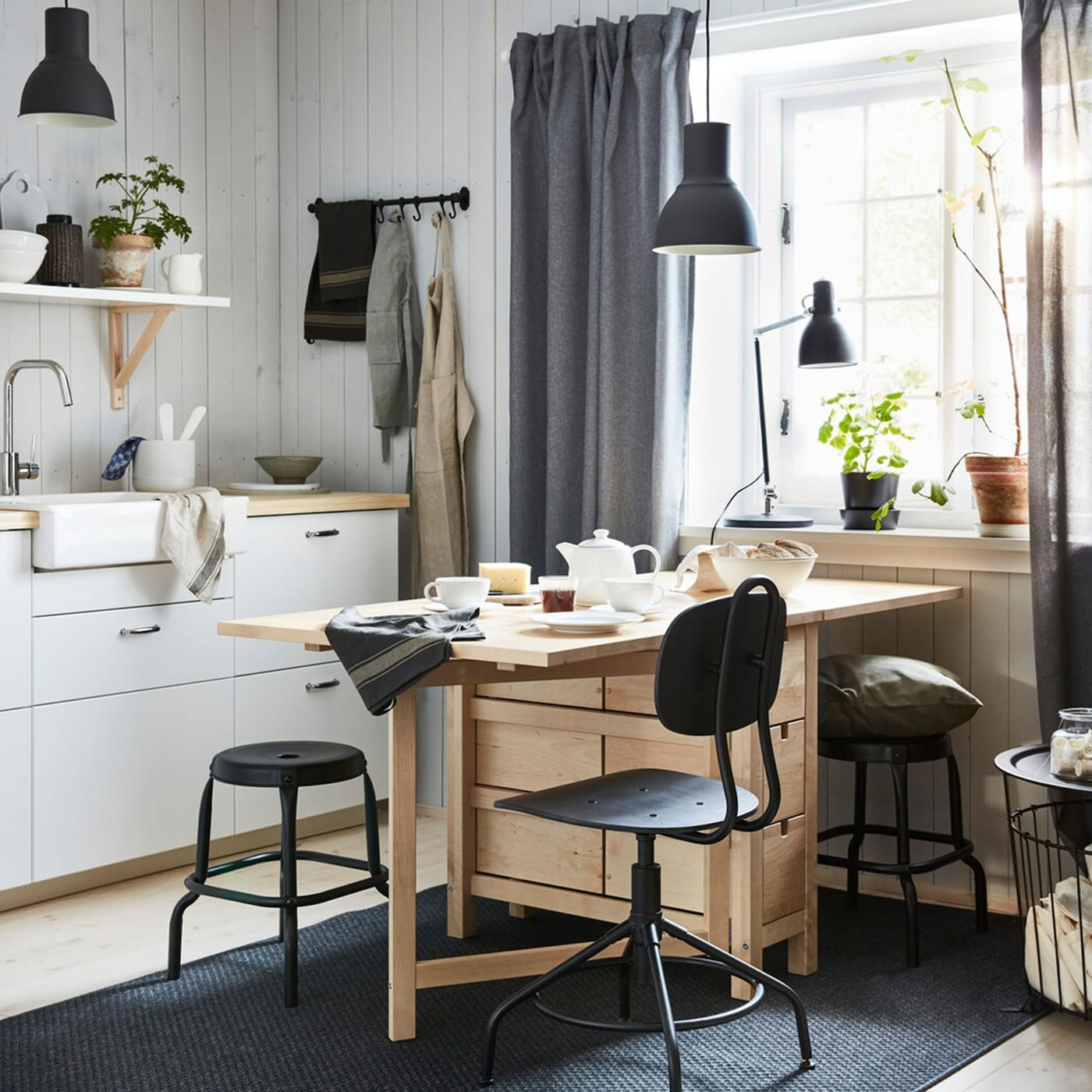 An Open Dining Area To Sip And Sew Away Ikea Switzerland