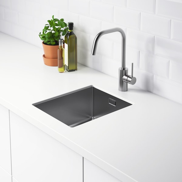 NORRSJÖN Einbauspüle mit Becken aus Edelstahl