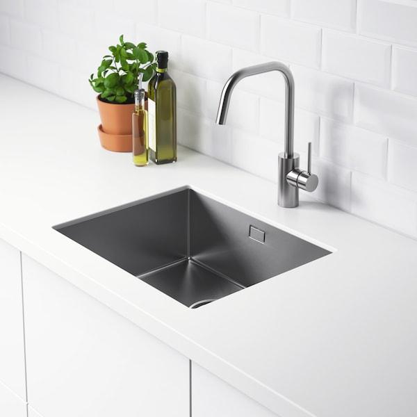 NORRSJÖN Spüle in die Küchenarbeitsplatte, maßgefertigt eingearbeitet