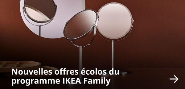 Nouvelles offres écolos du  programme IKEA Family.