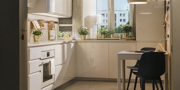 Seria Voxtorp Biała Kuchnia Ikea