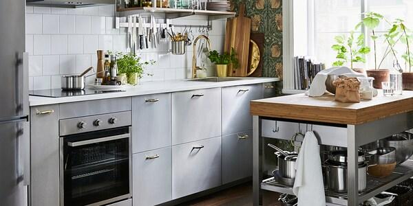Seria Grevsta Kuchnia Stalowa Ikea