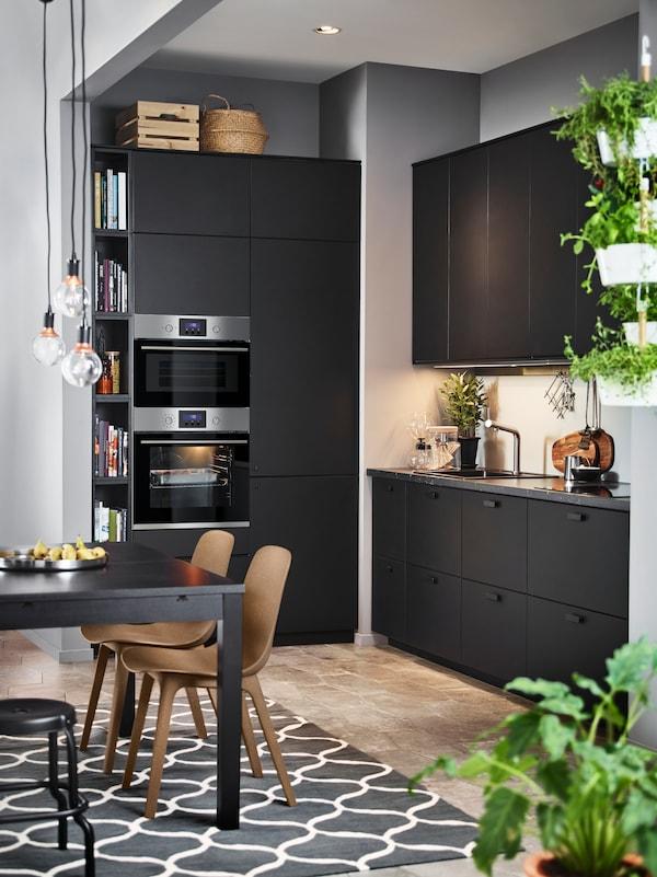 Seria Kungsbacka Czarna Kuchnia Ikea