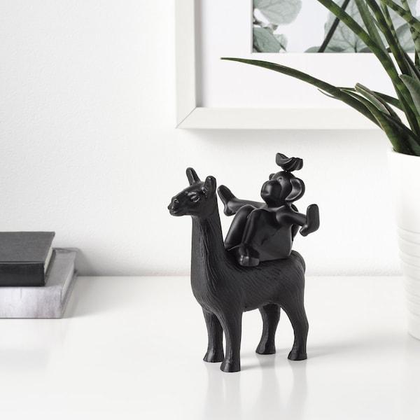 nybyggd decoratie dierenmotief zwart