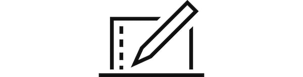 Obrázok ceruzky, ktorý symbolizuje plánovanie