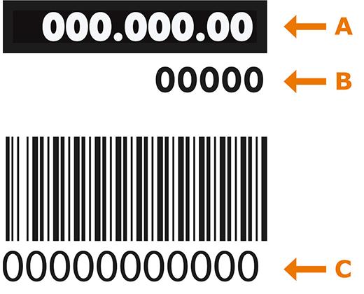 Översikt på vart man hittar artikelnummer, leverantörsnummer och service-/serie-/PNC-nummer på en IKEA vitvara.