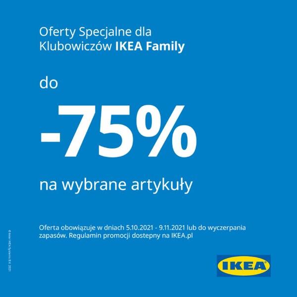 Oferta specjalna dla Klubowiczów IKEA Family -75% na wybrane artykuły