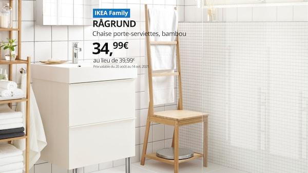 offre spéciale sur la chaise porte serviettes en bambou RAGRUND