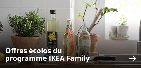 Offres écolos du programme IKEA Family.
