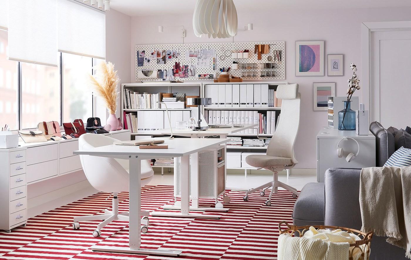 Mesa Despacho Ikea Blanca.Despacho En Casa Espacios De Trabajo Ikea