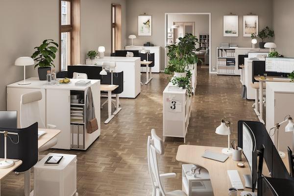 Офис с мебелью Бекант ИКЕА