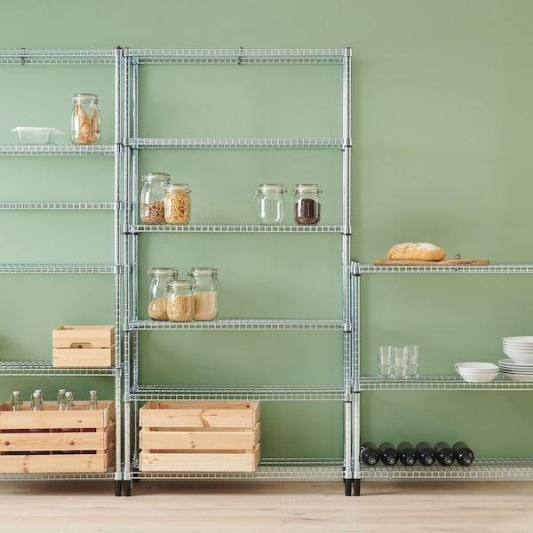 OMAR metal shelving units for kitchens and pantries