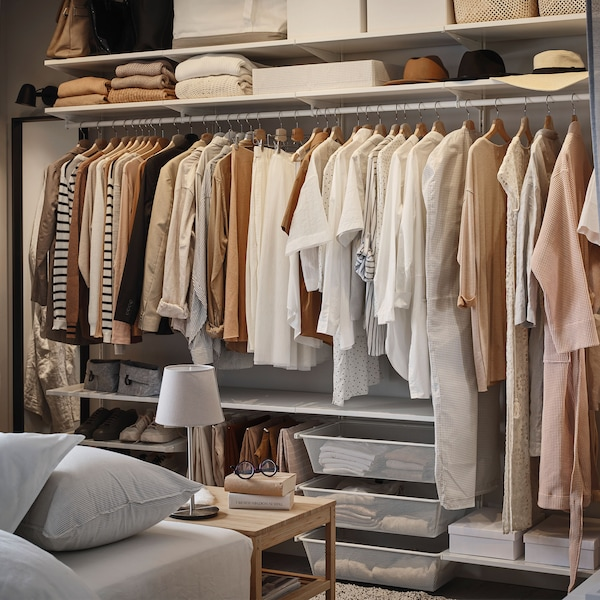 Open shoes and clothes storage