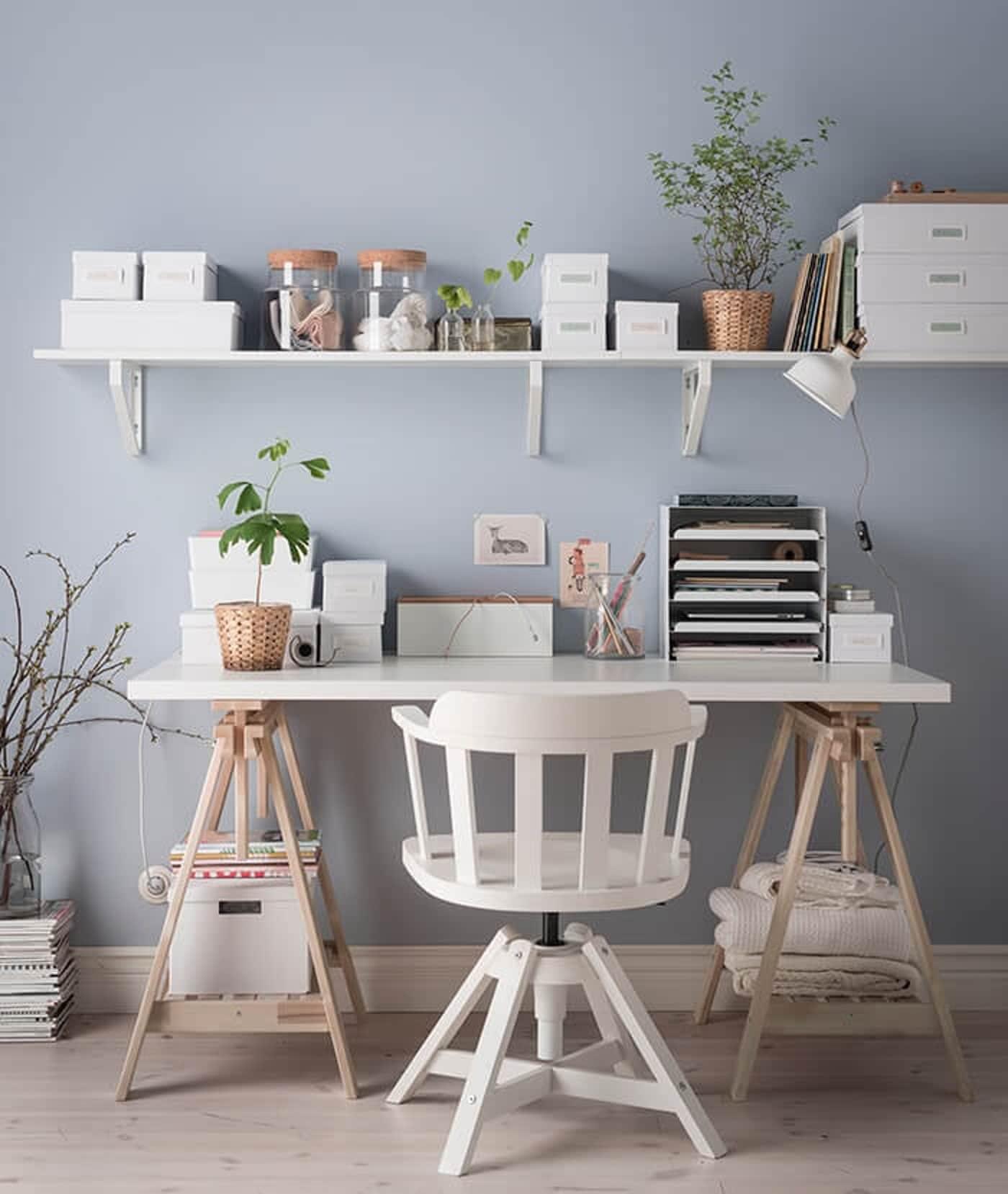 Bureau Plank Aan Muur.Een Opgeuimd Bureau Dat Is Geen Kunst Ikea