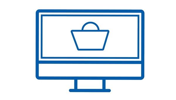 Ordering online icon