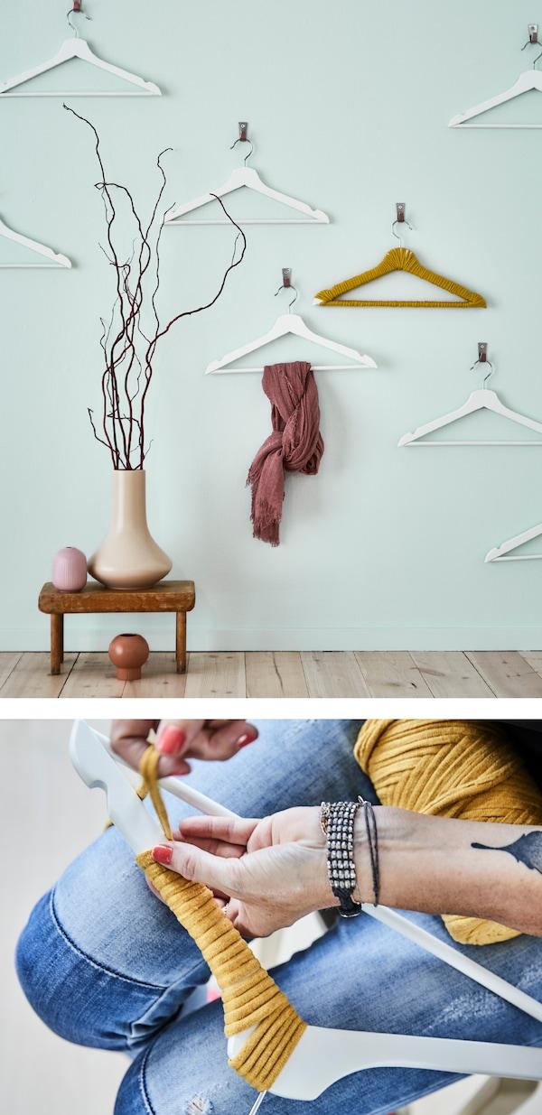 Organisation und optische Wirkung können wunderbar Hand in Hand gehen! IKEA verfügt über ein breites Angebot an Kleiderbügeln, wie z. B. BUMERANG Kleiderbügel in Weiß.