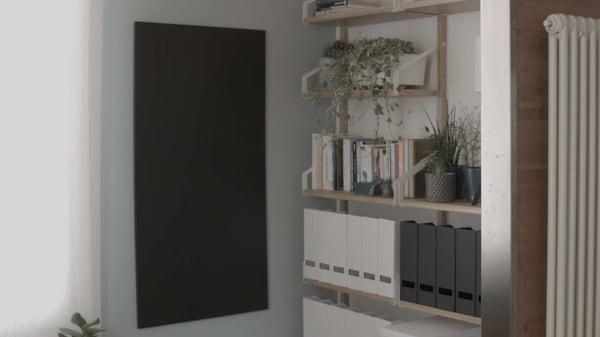 organizzazione, SVALNAS composizione da parete con porta documenti, piante e libri, ufficio luigi galimberti, progetto minds of change IKEA
