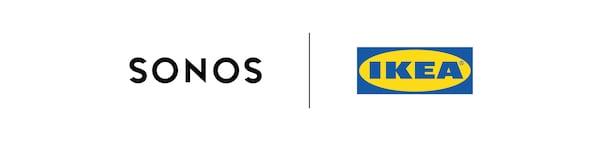 Os logótipos Sonos e IKEA.