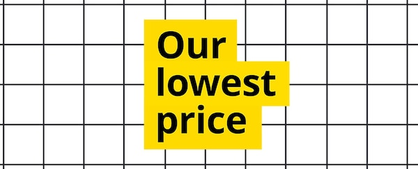 Our lowest price