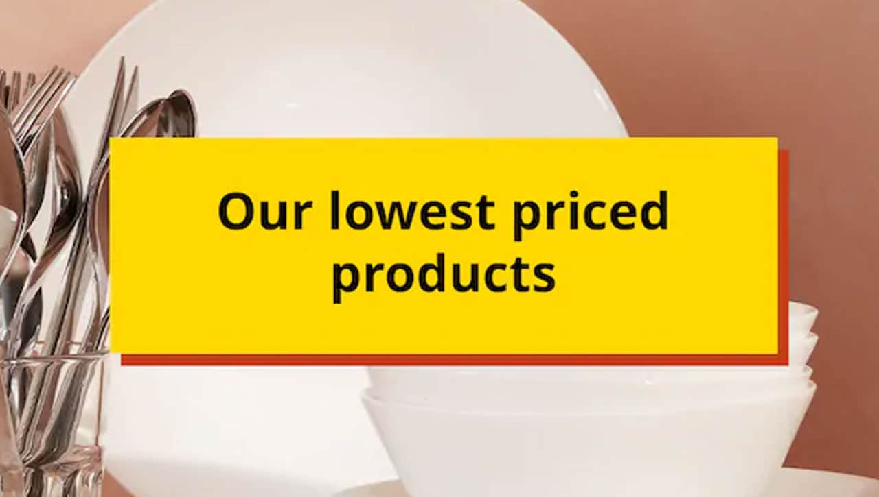 Our lowest priced products, plates OFTAST.