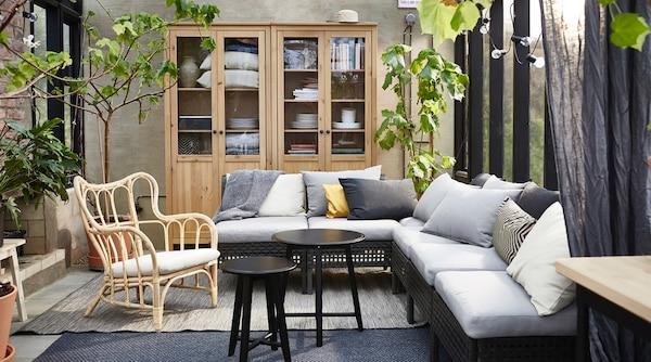 Outdoor Furniture Inside A House Mastholmen Armchair And Kungsholmen Sofa