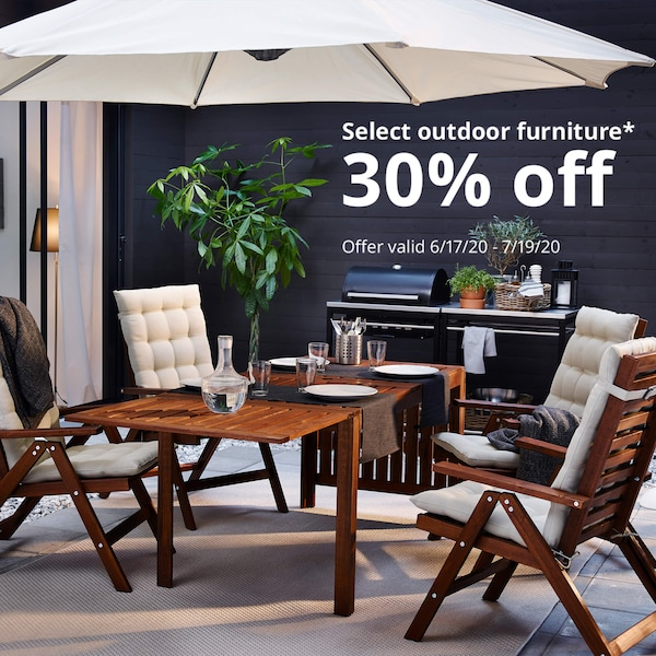 Outdoor patio set. Select outdoor furniture 30% off. Offer valid (6/17/20-7/19/20).