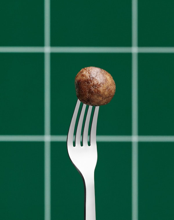 Овощная фрикоделька на вилке