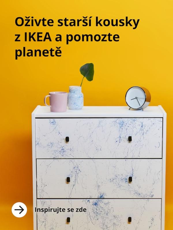 Oživte starší kousky z IKEA a pomozte planetě. Inspirujte se zde.
