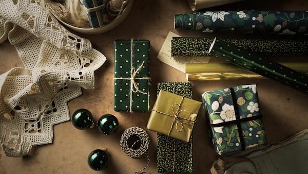 Papier cadeau et accessoires décoratives