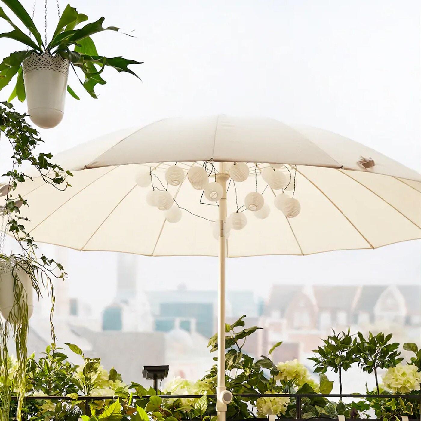 Parasoller og hagetelt