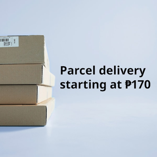 Parcel delivery starting at 170 pesos.