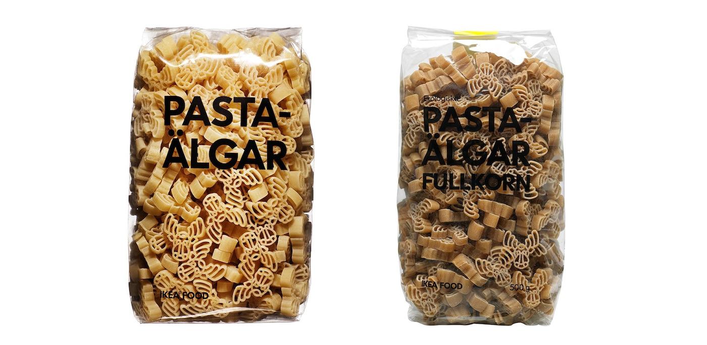 PASTAÄLGAR and PASTAÄLGAR FULLKORN elk-shaped pasta