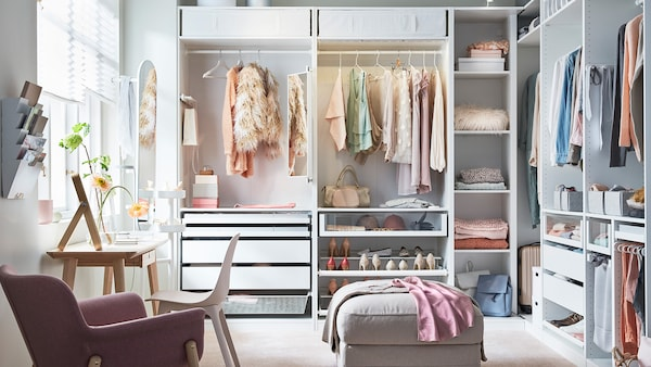 PAX closet storage solution.