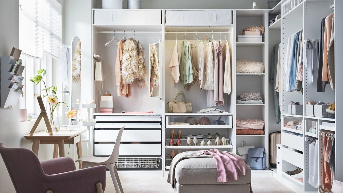 Fasjonable Få inspirasjon til PAX-garderoben - IKEA NF-91