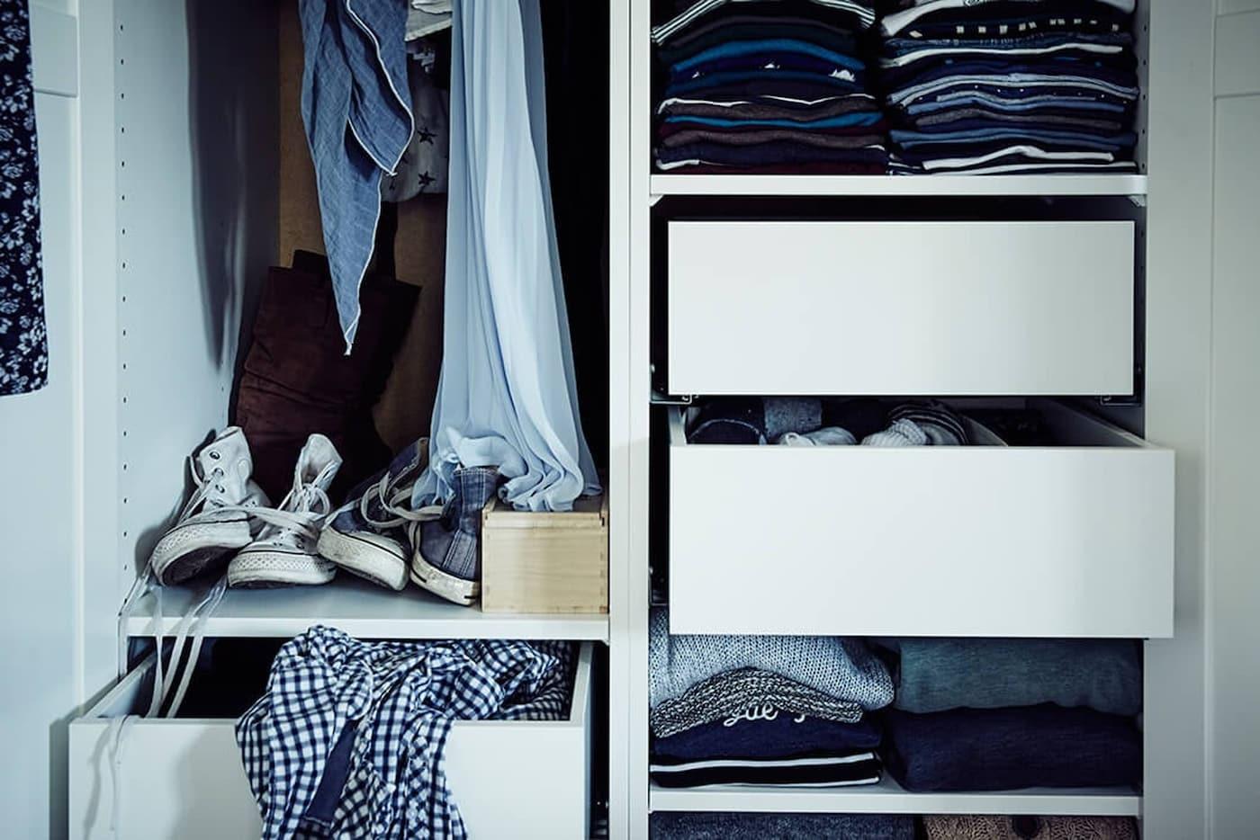 pax-kast-slim-indelen-IKEA wooninspiratie