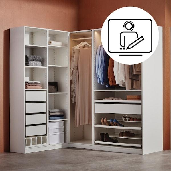 PAX Kleiderschrank geplant vom IKEA Profi