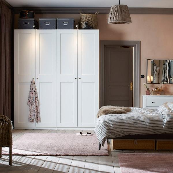 PAX Kleiderschrank Inspiration in einem Schlafzimmer