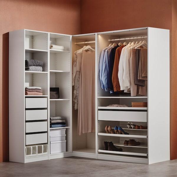 PAX Kleiderschrank ohn Türen in weiß